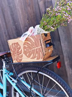 Create With Silhouette Wood Vinyl Silhouette Blog, Silhouette Cutter, Silhouette America, Silhouette Projects, Silhouette Cameo, Wood Vinyl, Bike Rack, Vintage Box, Tropical Leaves