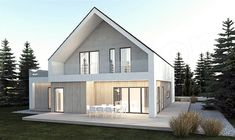 Roof Architecture, Modern Architecture House, Sustainable Architecture, Residential Architecture, Barn House Conversion, Minimal House Design, Modern Barn House, Bungalow House Design, Facade House