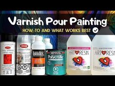 How to Varnish Pour Painting - TOP 4 Finishes from Spray Varnish to Epoxy Resin – Smart Art Materials Acrylic Painting Tips, Pour Painting, Acrylic Art, Liquitex Acrylic Paint, Acrylic Paintings, Diy Painting, Acrylic Pouring Techniques, Acrylic Pouring Art, Resin Spray