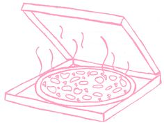 let's have a pink pizza party