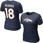 Nike Denver Broncos Peyton Manning Women's Name & Number T-Shirt - SportsAuthority.com