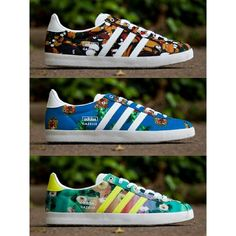 "The Farm x Adidas Original Gazelle ""Floral"" Collection.  #brandicted #exclusive #shoegame #adidasoriginals #summer #2014"