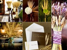 This 'inspiration board' has definitely inspired me. I love the look of wheat, by itself and as part of an autumn bouquet.