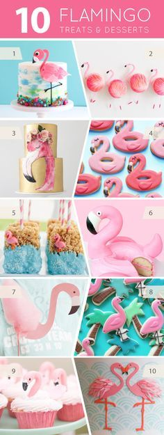 10 Fabulous Flamingo Treats - cakes, cupcakes, cookies and pops for flamingo lovers