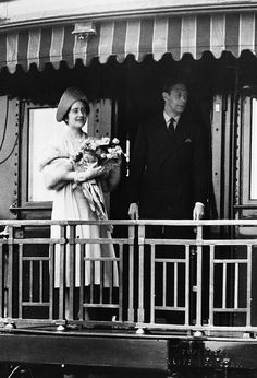 King George VI and Queen Elizabeth from Train by glenbowmuseum, via Flickr