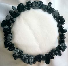 Schneeflockenobsidian Heilstein Armband Bracelet