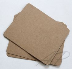 100 pcs of Blank Hair Clip Display Card in Brown Kraft Paper for Accessory and Jewelry for DIY(NO Hanging Hole on top)