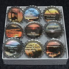 moments in time 1 by CeeGeeCreations on Etsy Mini Magnets, Round Magnets, In This Moment, Etsy