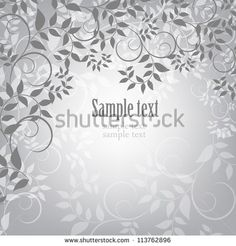 Floral graphics grey background minimalistic pattern, invitation. Vector. Ideas for wedding. http://www.shutterstock.com/cat.mhtml?gallery_id=734809