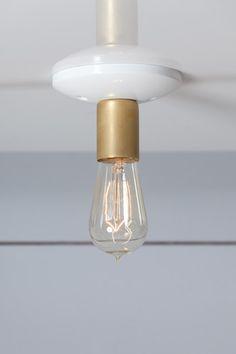 Brass - Steel Ceiling Mount Light - Industrial Light Electric - 1