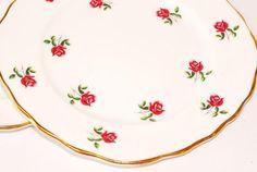 Colclouogh x4 Vintage Bone China Teaset Tea - Side Bread Buter Plates English H | eBay