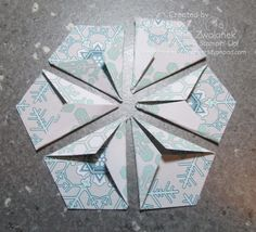 Mini Photo Tutorial: Hexagon Punch Star Fold Card