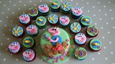 George Pig cake and cupcakes