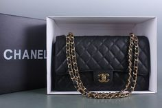 Chanel Jumbo with Double Flap in Black Caviar. Exact purse I want!