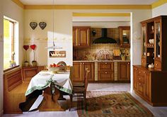 Country Kitchen, Corner Desk, Kitchen Cabinets, Interior Design, Table, Furniture, Home Decor, Google, Search