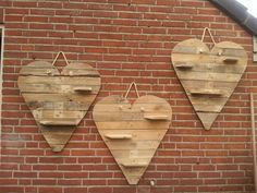 Pallet houte harten.