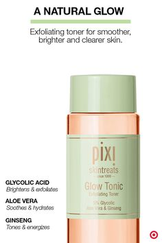 Glowing, radiant skin in a bottle. This cult beauty classic is now available in the U.S., exclusively at Target. Pixi Glow Tonic is a toner that contains 5% glycolic acid. The acid works to gently exfoliate dull skin, while botanical extracts like aloe and ginseng help nourish and hydrate. Because of its gentle nature, it works on women and men of all skin types, from sensitive to oily to extra dry. For optimal results, use twice daily after cleansing to minimize pores and speed cell…