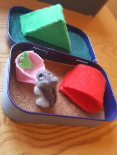 Cute miniature animals in a tin!! https://www.etsy.com/uk/listing/294838331/felt-hamster-and-habitat-in-a-mint-tin
