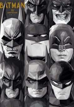Batman 75th Anniversary by Simon Delart