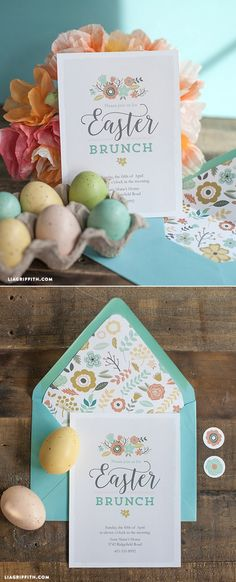 #Printable #EasterBrunch #DIYEaster www.LiaGriffith.com