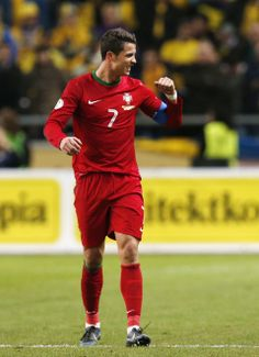~ Cristiano Ronaldo of Portugal in his new Nike Mercurial Vapor Soccer Cleats against Sweden to qualify for the 2014 World Cup ~