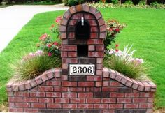 Brick Mailbox - I think I would like one out of natural stone