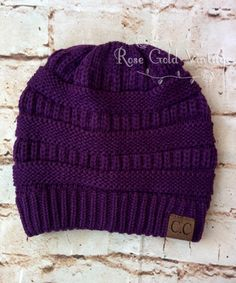CC Beanie Hats in Purple - plus 22 other colors to choose from! – Rose Gold Vintage