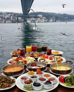 Sunday Breakfast in Lacivert Restaurant, Istanbul