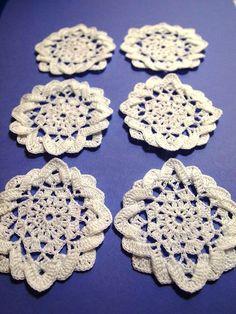 Double layer starry crochet applique  6 pcs by Handicraftshed