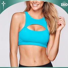 e98ea8880ac80 Newarrival Custom Polyester Dry Fit Padded Crop Top Women Fitness Sport Bra