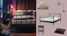 i like the purple room, and the rugs by the bed frame