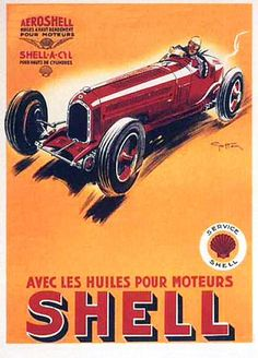 Vintage Advertising Posters | Shell Oil