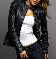 Black Soft Leather Jacket - Coat Nj