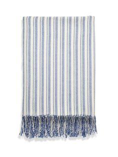 Candy Stripe Throw by Johnstons Cashmere on Gilt Home