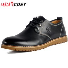 Hot Sale Men Shoes Leather Man's Flats Causal Fashion Men's Business Geniune leather Dress Shoes