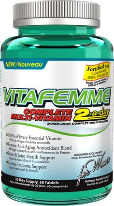 Allmax Nutrition VitaFemme 60 Tabs - Women's Multivitamins - Multivitamins - Vitamins & Minerals - Vitamins, Minerals, Herbs & Daily Vitamins, Liquid Vitamins, Convenience Food, Vitamins And Minerals, Health And Nutrition, Feel Better, Healthy, Multi Vitamin, Product Shot