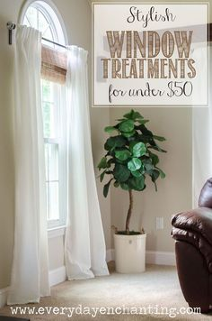 Stylish Budget Window Treatments More Farmhouse Style Ideas