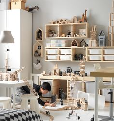 Ikea baby room ideas for boy and girl. Suitable furniture for small spaces, best decor. The best options for the baby and toddler room. Ikea Kids Room, Kids Bedroom, Kids Rooms, Bedroom Ideas, Room Boys, Toddler Rooms, Bedroom Decor, Trofast Ikea, Ikea Toys