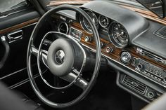 Check out this stunning 1971 Mercedes-Benz 300 SEL for sale: via Mercedes-Benz Classic Center USA Mercedes W114, Mercedes S Class, Mercedes Benz 300, Mercedes World, Mercedes Interior, Daimler Benz, Classic Mercedes, Cool Cars, Super Cars