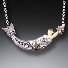 Mammoth Jewelry Silver Mermaid Pendant with 14kt Gold Fill - <b>Mermaid</b>