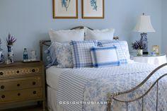 French Blue Guest Room for a Bon Nuit | Designthusiasm.com
