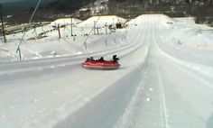 Snowtubing in the Pocono Mountains