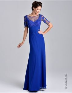 Nina Canacci - M202 Dress in Royal