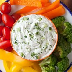 Ranch Cucumber Dip Another classic made with greek yogurt. Sponsored by Hidden Valley. #rancheverything #hiddenvalley #ad