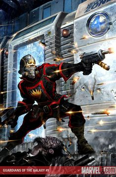 Blastaar attacks the Negative Zone Prison while Star-Lord is trapped inside! Will Rocket Raccoon and his new Guardians arrive in time to save their leader? Gaurdians Of The Galaxy, Guardians Of The Galaxy Vol 2, Univers Marvel, Marvel Art, Marvel Heroes, Mundo Marvel, Space Ghost, Iron Man Captain America, Guardians Of The Galaxy