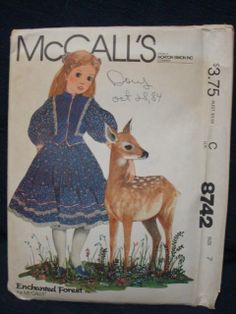 1980s McCall's 8742 Enchanted Forest Sewing Pattern by kinseysue, $10.00
