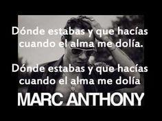 Marc anthony Volver a comenzar letra