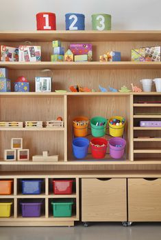 Small Storage, Home Schooling, Room Organization, Playroom, Woodworking Projects, Bookcase, New Homes, Room Decor, Shelves