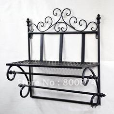 Aliexpress.com : Buy European style iron Wall mounted rack ...