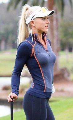 Omg so beautiful and stunning Girls Golf, Ladies Golf, Sporty Girls, Sporty Outfits, Golf Fashion, Sport Fashion, Sexy Golf, Beautiful Athletes, Athletic Girls